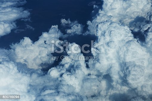 istock Clouds from airplane 820759294