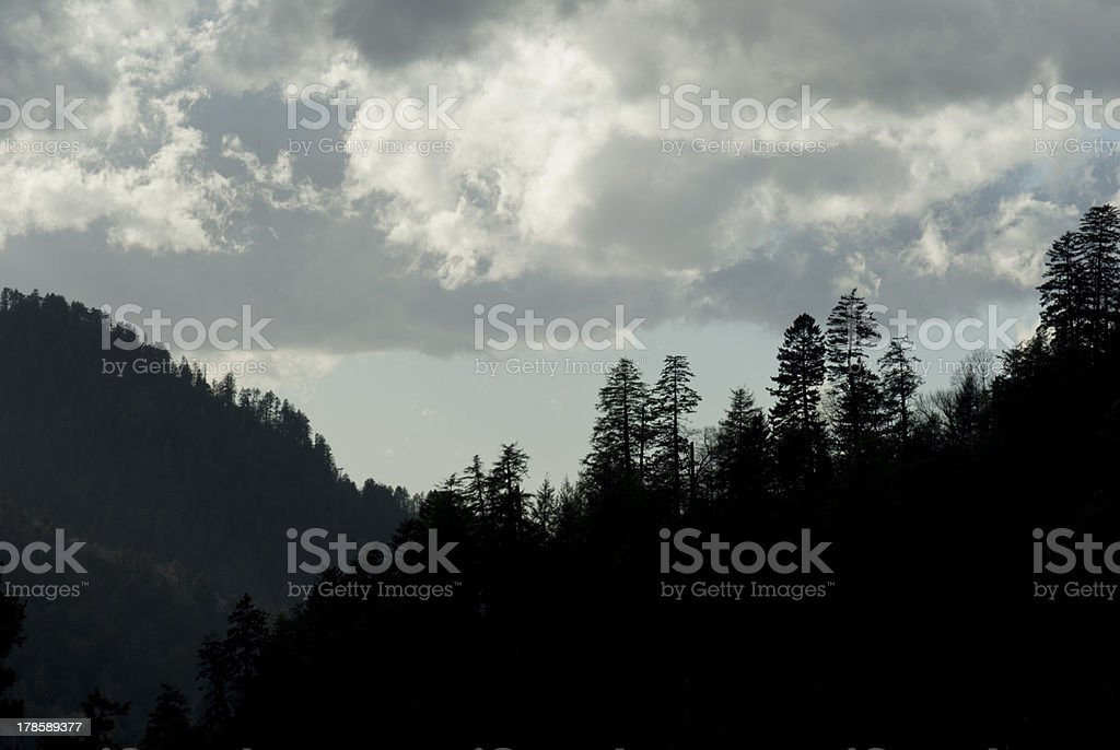 Clouds, Great Smoky Mtns National Park, TN-NC royalty-free stock photo