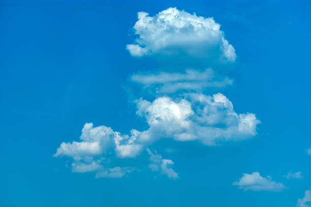 clouds in blue sky stock photo