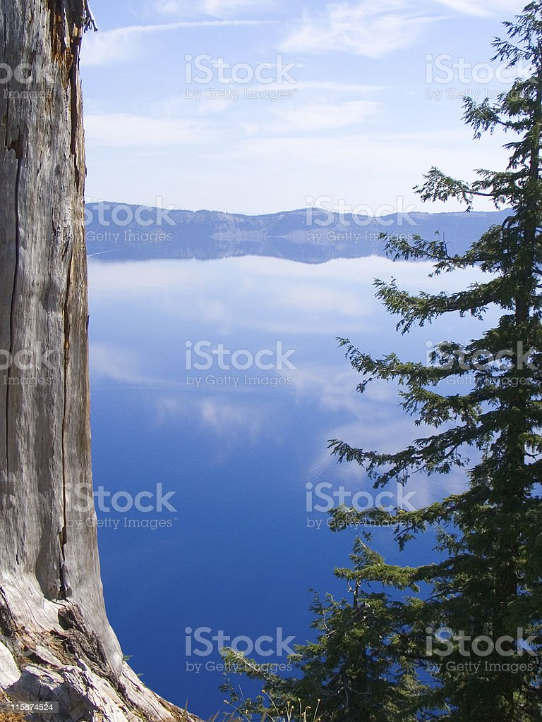 Clouds in Crater lake royalty-free stock photo