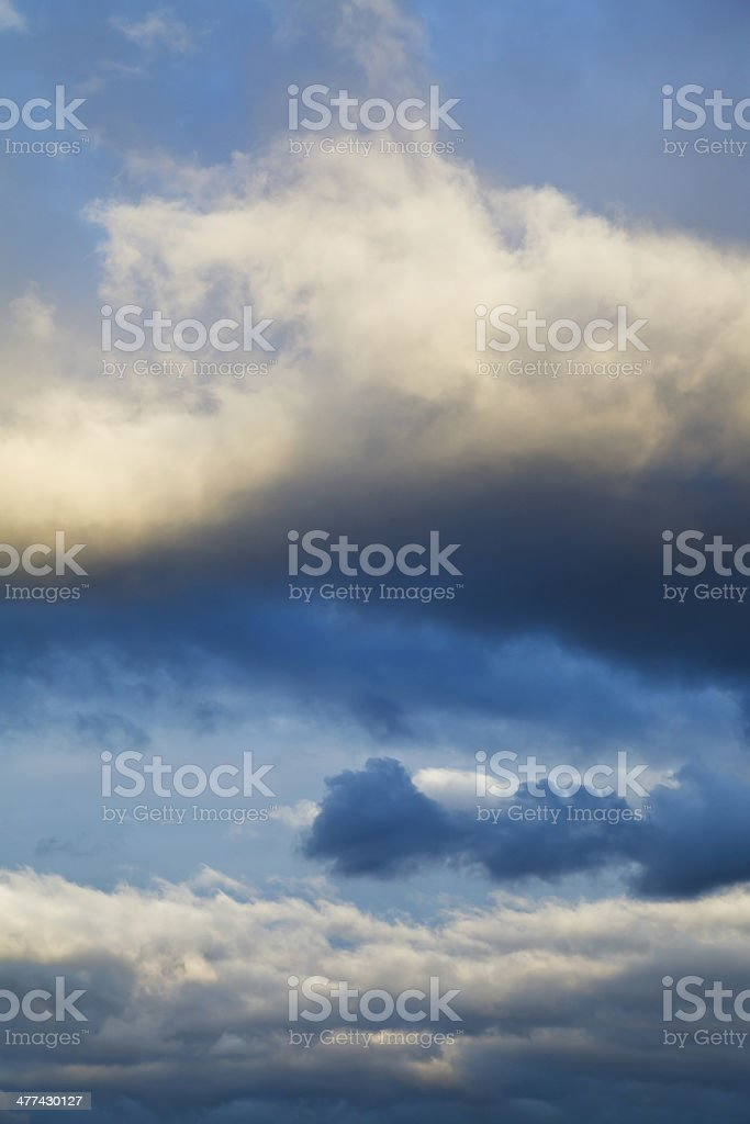 clouds in dark blue evening sky royalty-free stock photo