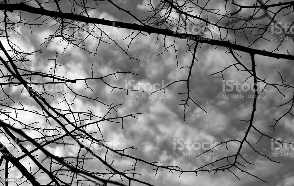 Clouds in frame royalty-free stock photo