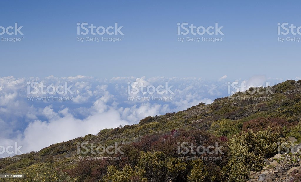 Clouds in Haleakala royalty-free stock photo