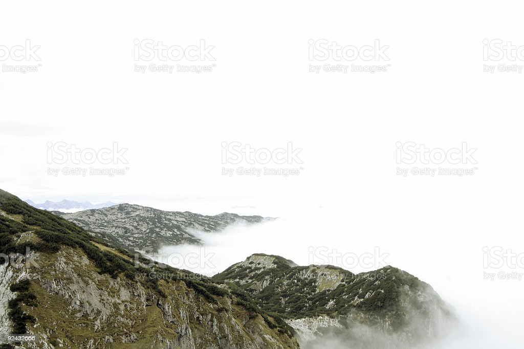 clouds in mountain - Untersberg royalty-free stock photo
