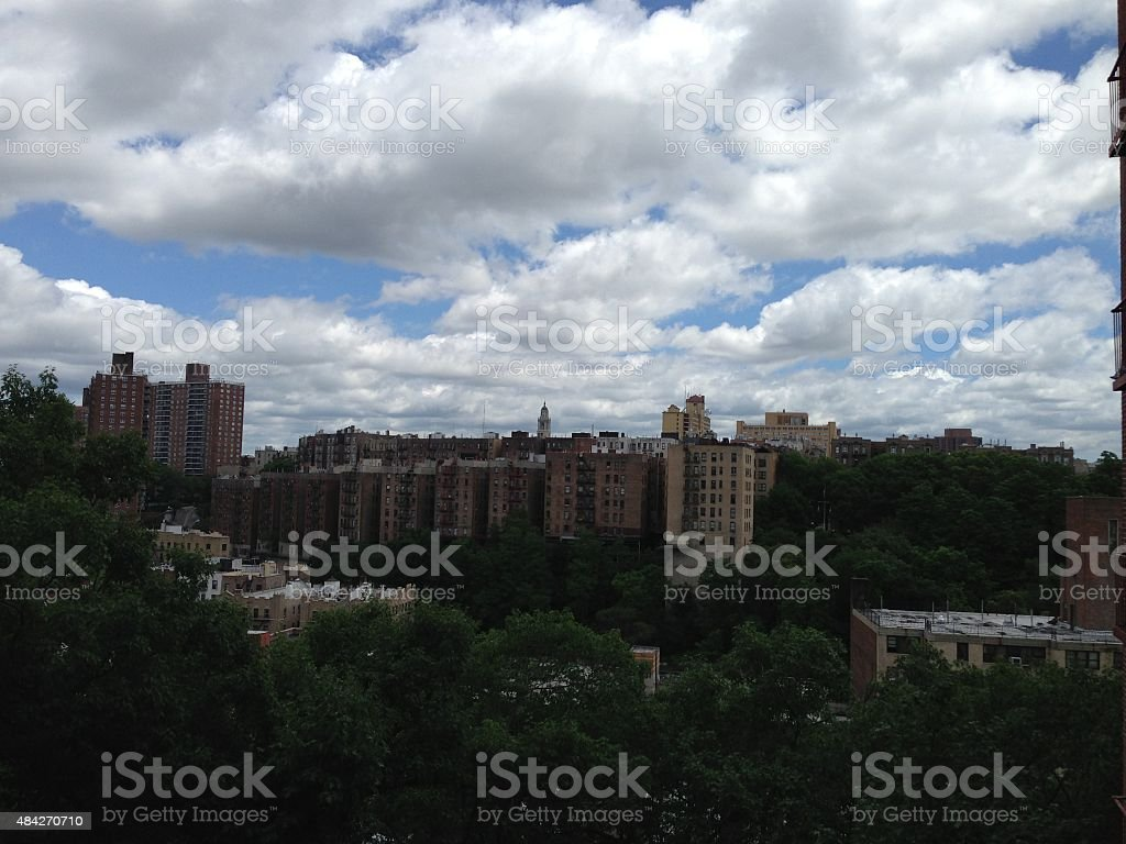 clouds in New York stock photo