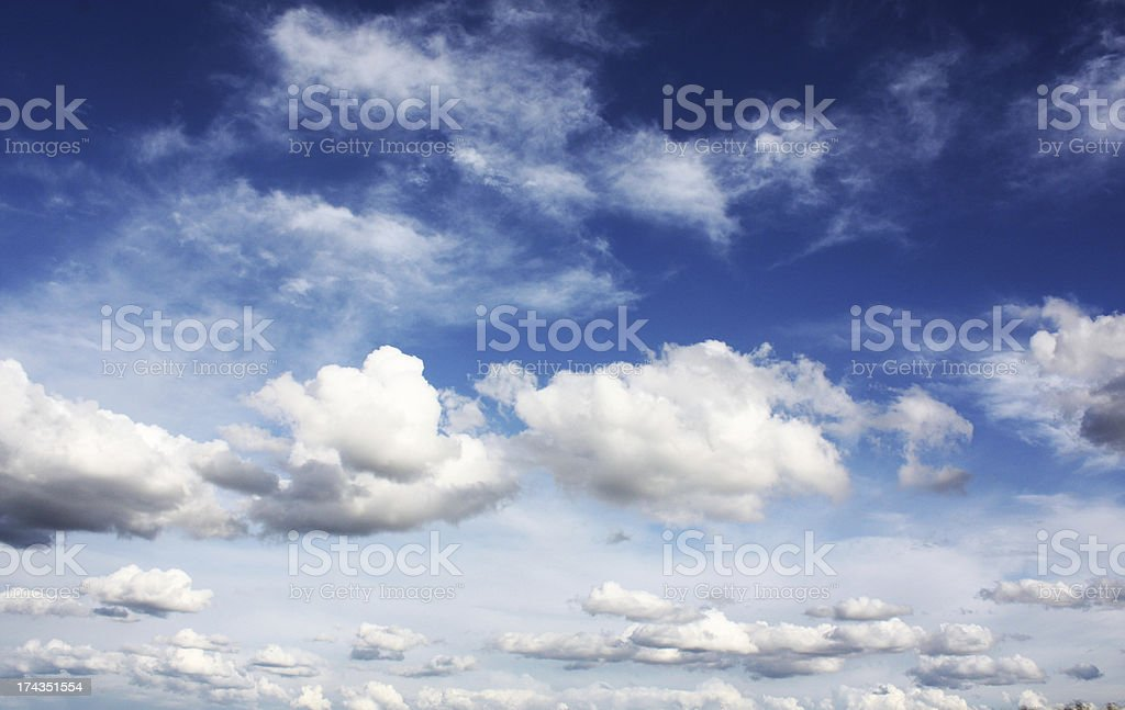 clouds in sky royalty-free stock photo