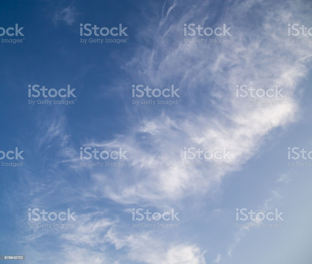 clouds in the blue sky as the background stock photo