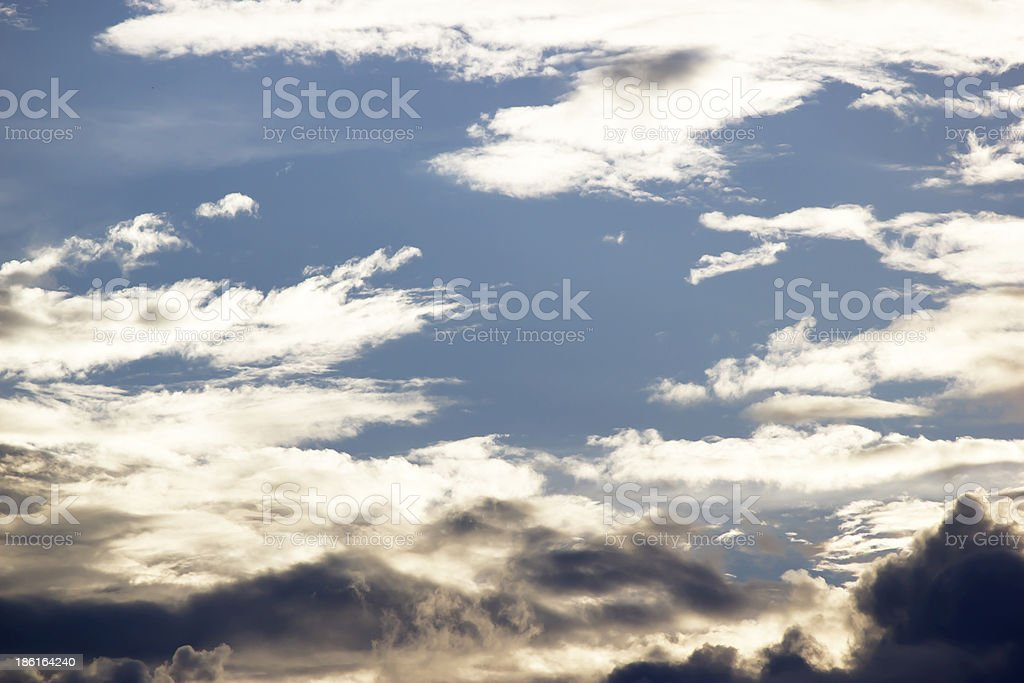 Clouds in the blue sky background. royalty-free stock photo