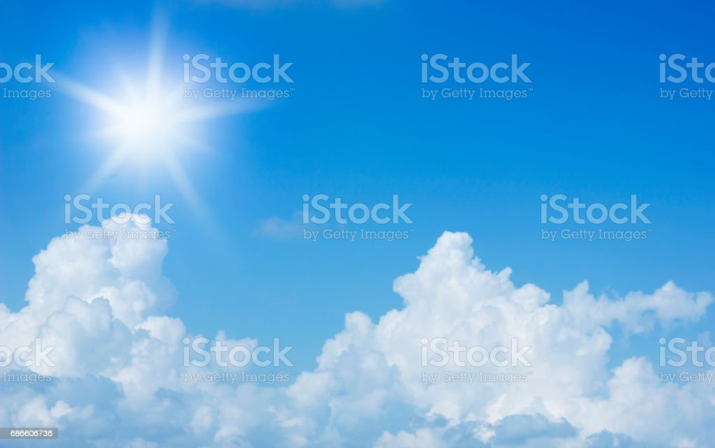 clouds in the blue sky background royalty-free stock photo