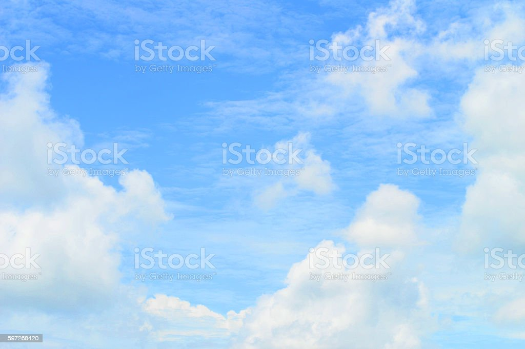 clouds in the blue sky, blue sky background with white clouds Lizenzfreies stock-foto