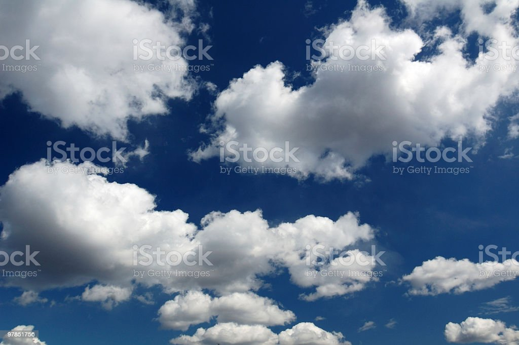 Clouds in the blue sky royalty-free stock photo