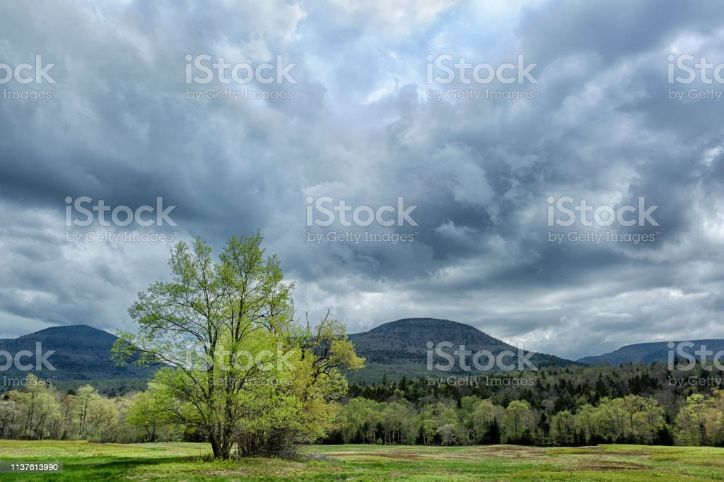 Clouds In The Catskills stock photo