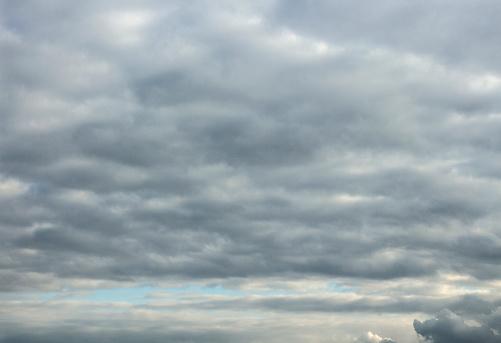 Sky full of gray rain clouds.