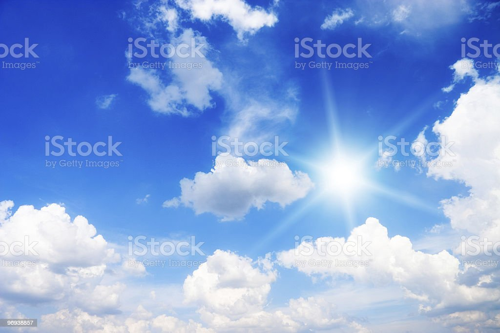 Clouds in the sky royalty-free stock photo