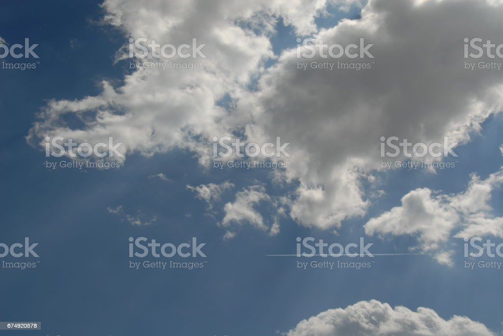 Wolken am spanischen Himmel royalty-free stock photo