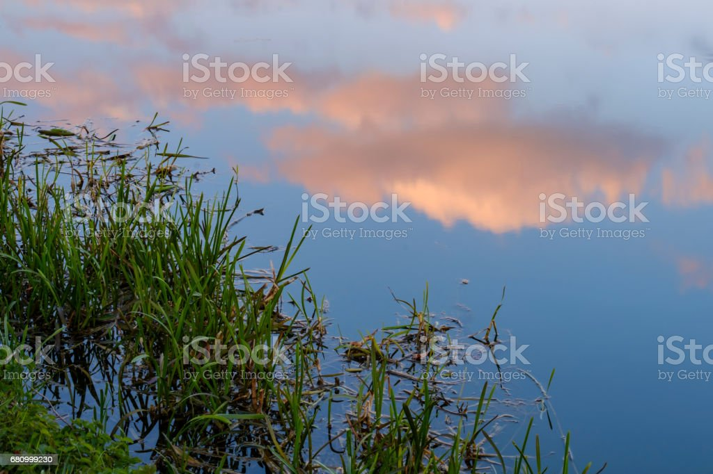 Clouds in the water royalty-free stock photo