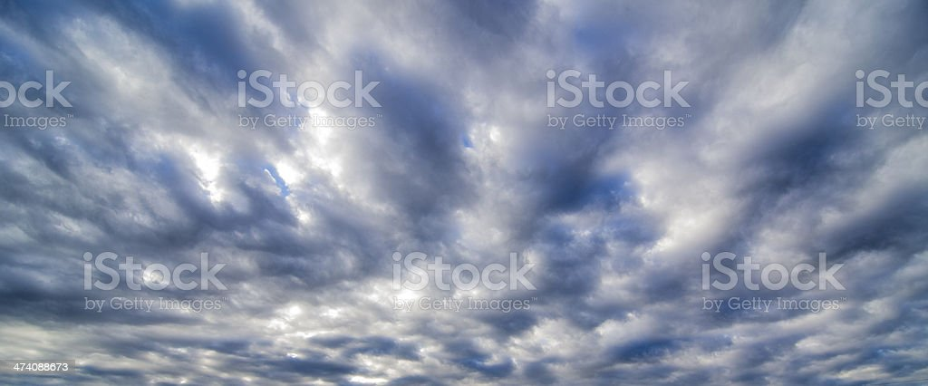Clouds in the wind royalty-free stock photo