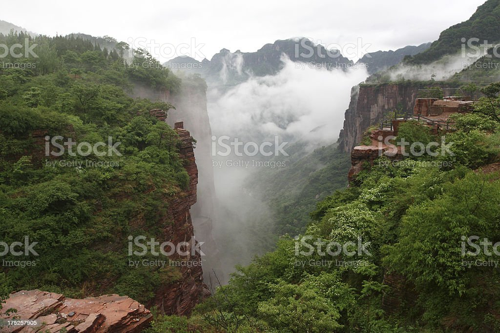Clouds in valley royalty-free stock photo