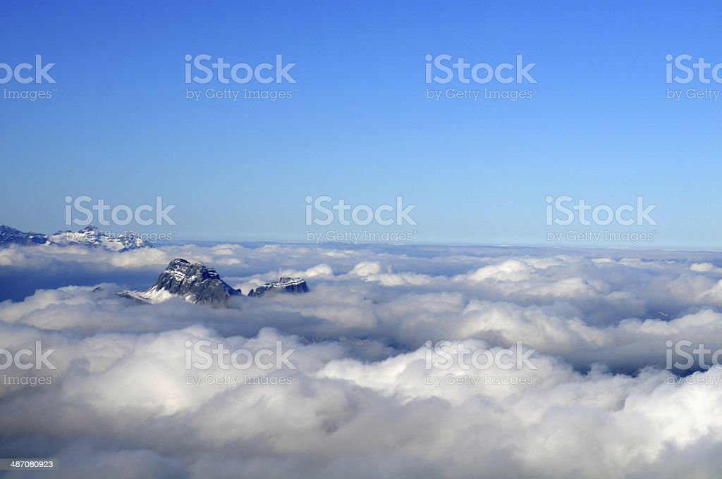 Clouds - Mountain stock photo