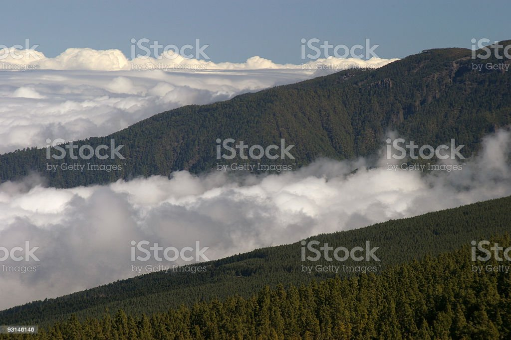 clouds nad hills royalty-free stock photo