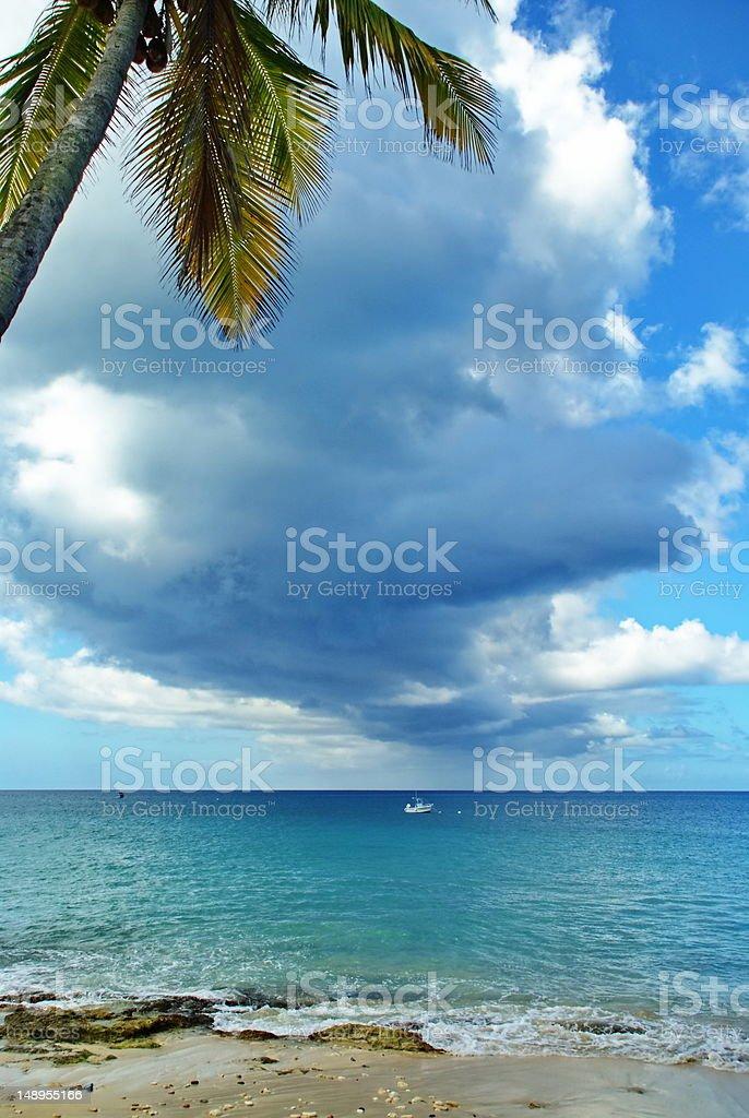 Clouds of St. Croix, Virgin Islands stock photo
