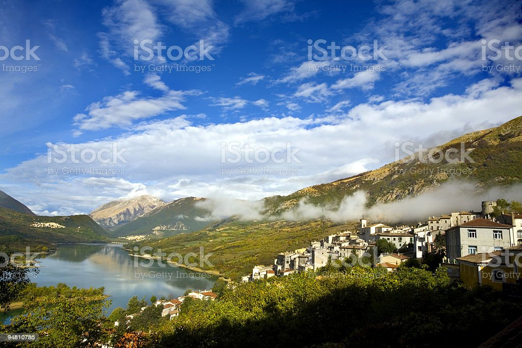 clouds on barrea royalty-free stock photo
