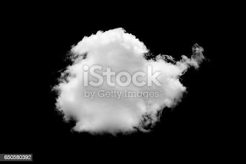 istock Clouds on black background 650580392