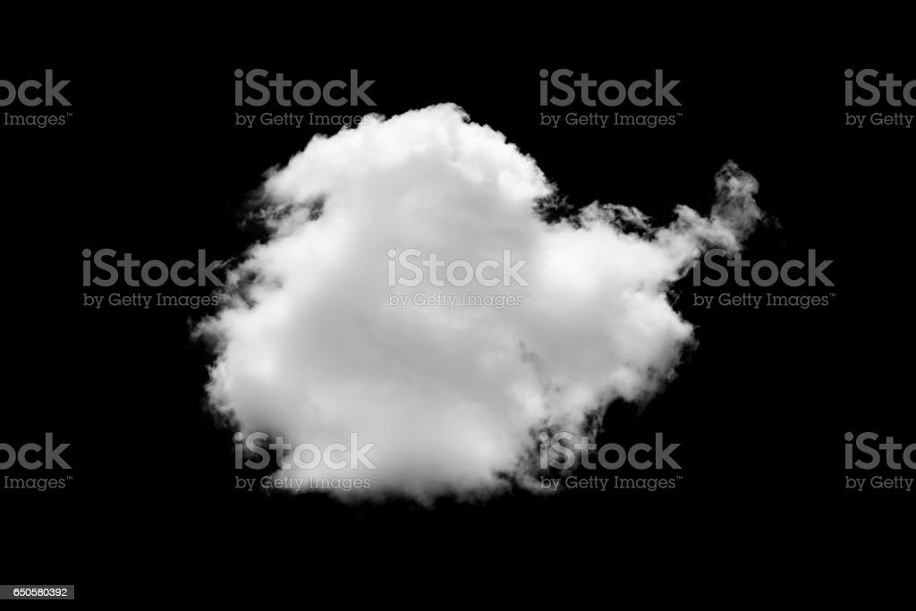Clouds on black background stock photo