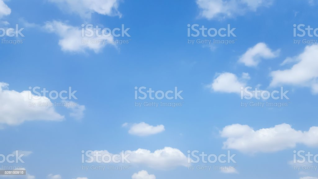 clouds on blue sky stock photo