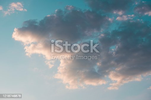 istock Clouds on sky 1218746878
