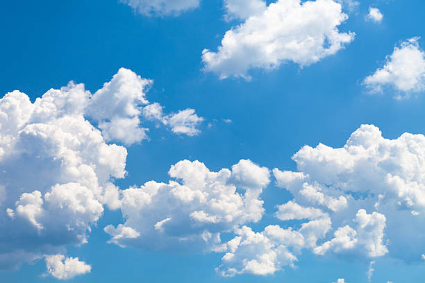 Clouds on sky Shot of white clouds on blue sky. cloud sky stock pictures, royalty-free photos & images