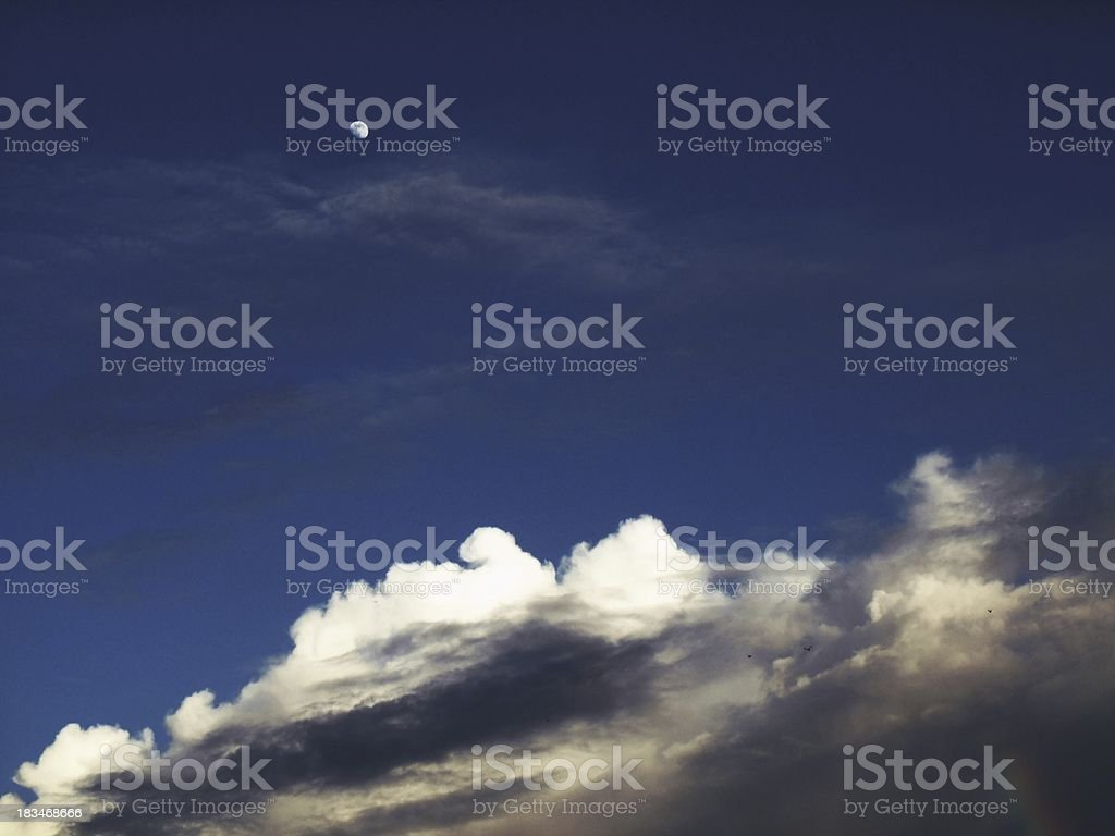 Clouds on the blue royalty-free stock photo