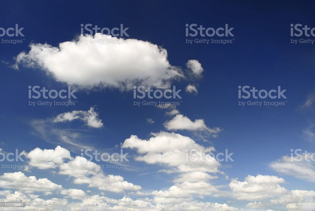 Clouds on the blue sky, SCROLL DOWN for more royalty-free stock photo