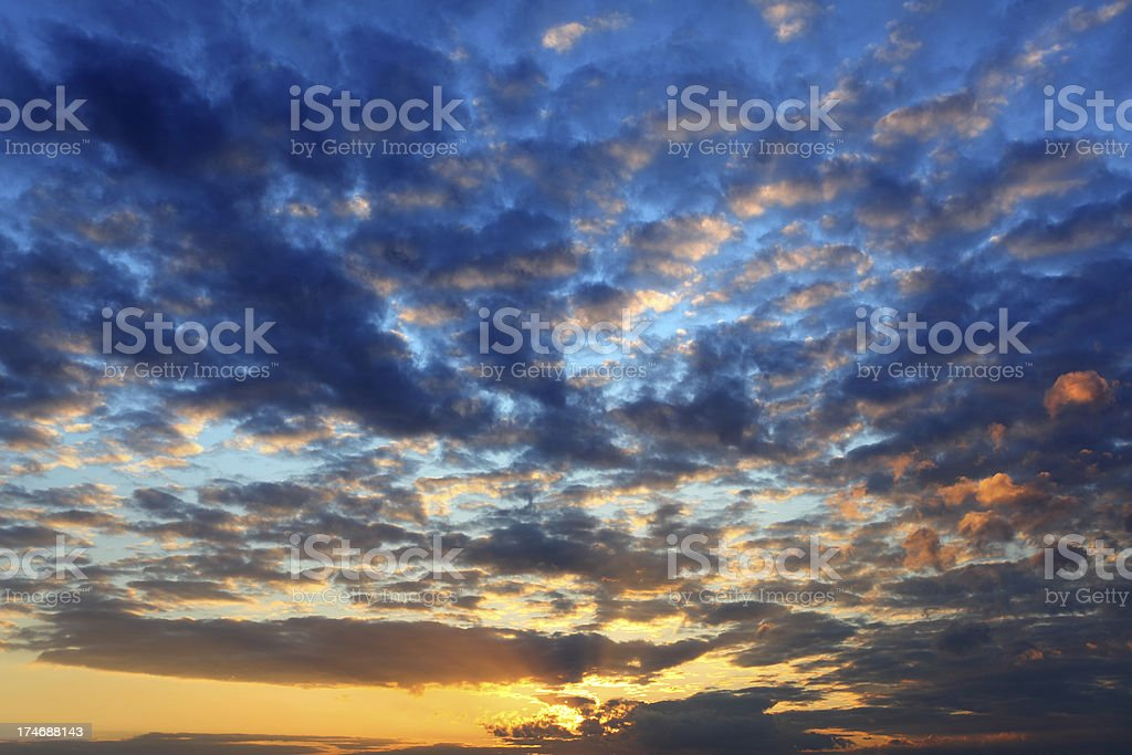 Clouds on the sky - sunset royalty-free stock photo