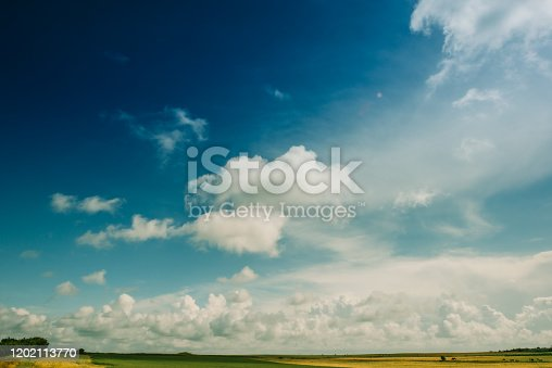 Clouds over coast landscape