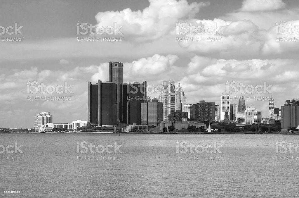 Clouds Over Detroit stock photo