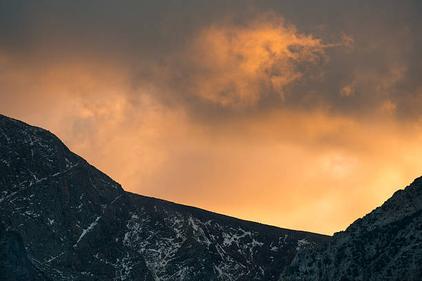 Clouds over Eastern Sierra stock photo