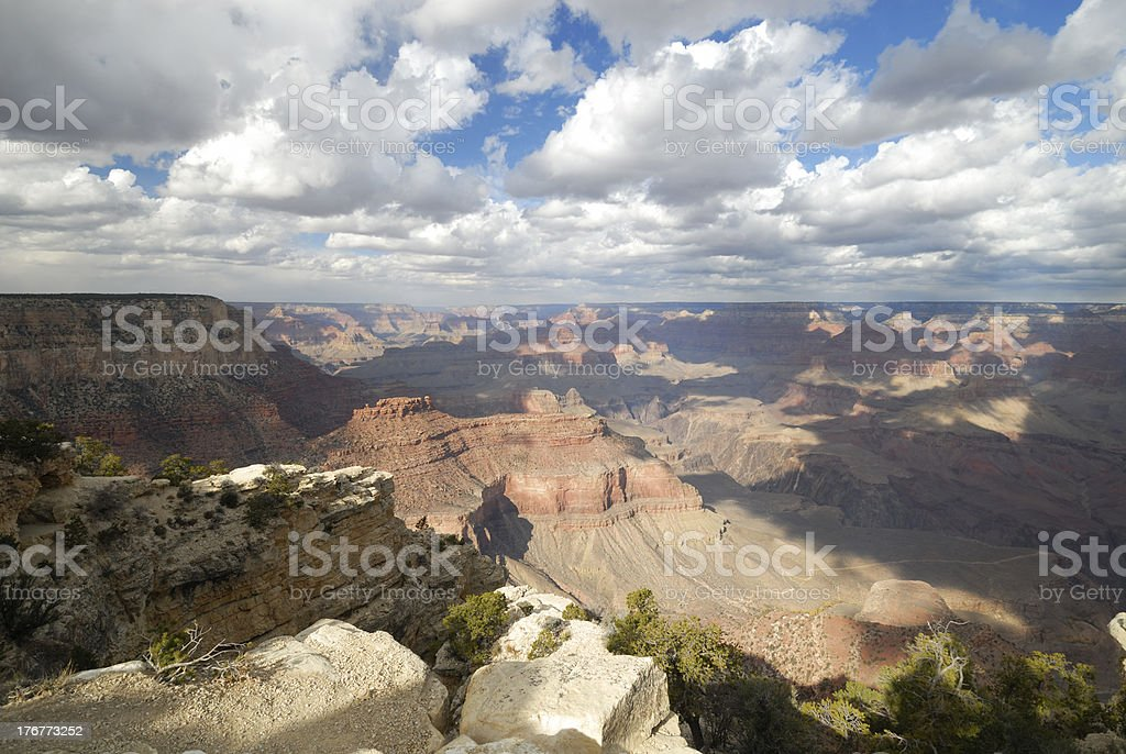 Clouds over Grand Canyon royalty-free stock photo
