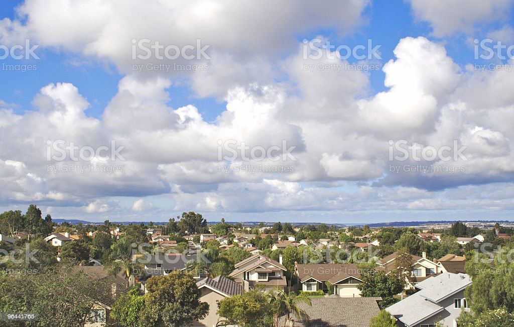 Clouds Over Houses - Royalty-free California Stock Photo