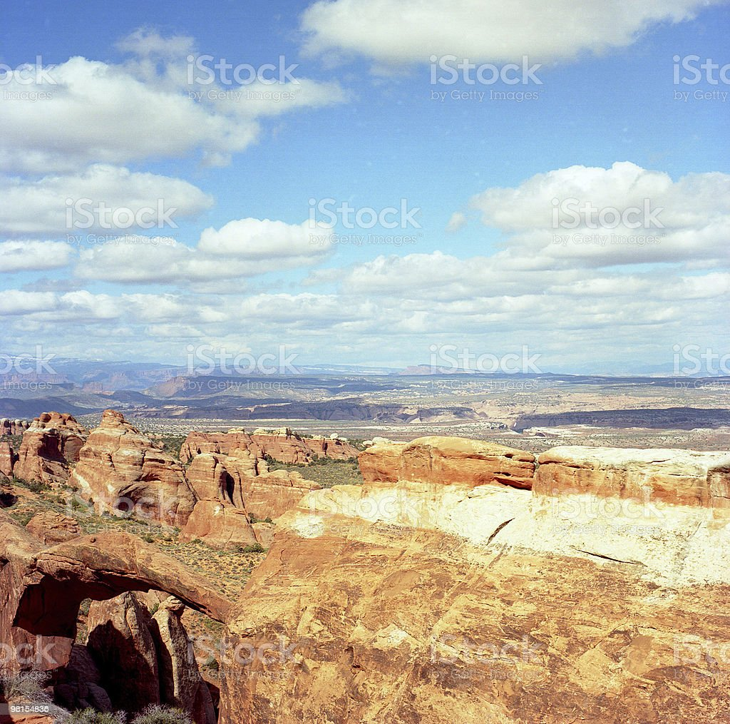 Clouds Over Partition Arch royalty-free stock photo