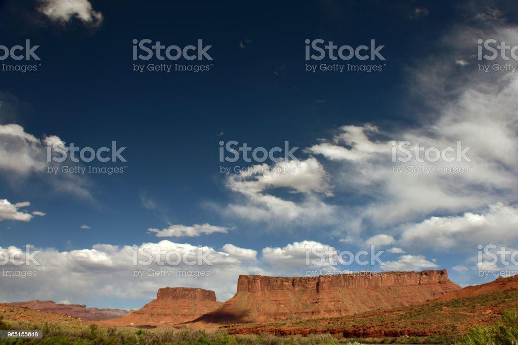Clouds over Red Cliff Mesa zbiór zdjęć royalty-free