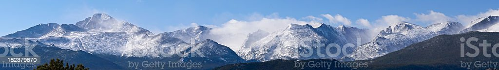 Clouds over Rocky Mountain National Park in Colorado royalty-free stock photo