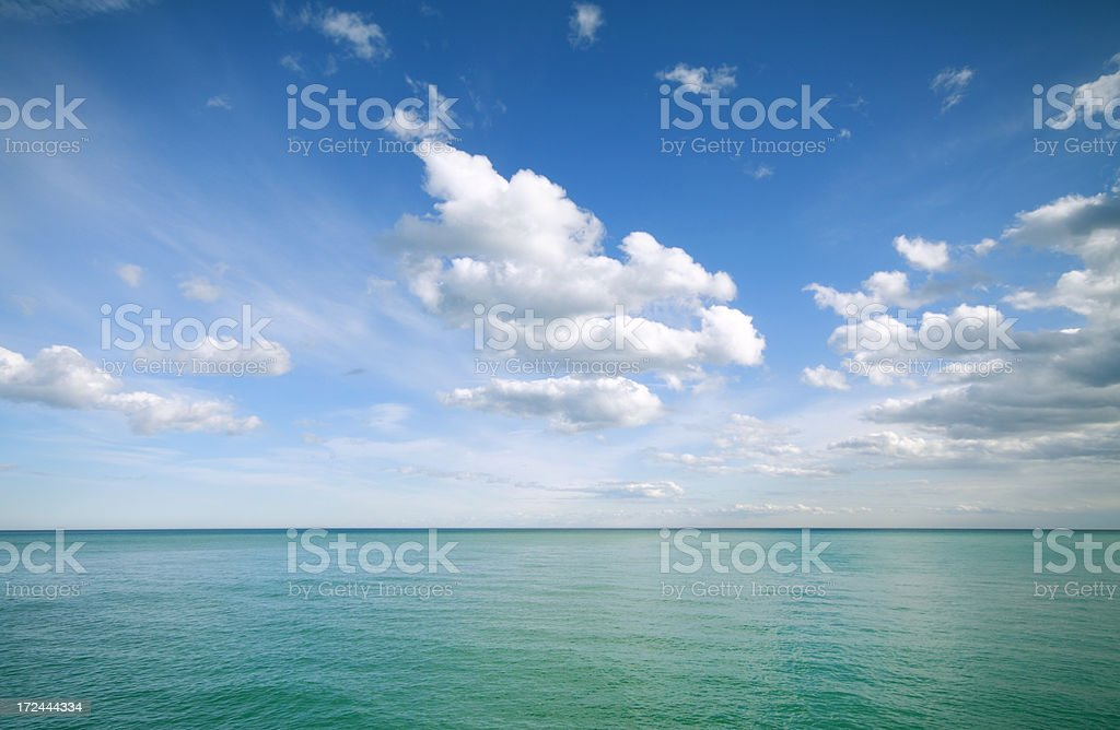 Clouds Over Sea royalty-free stock photo