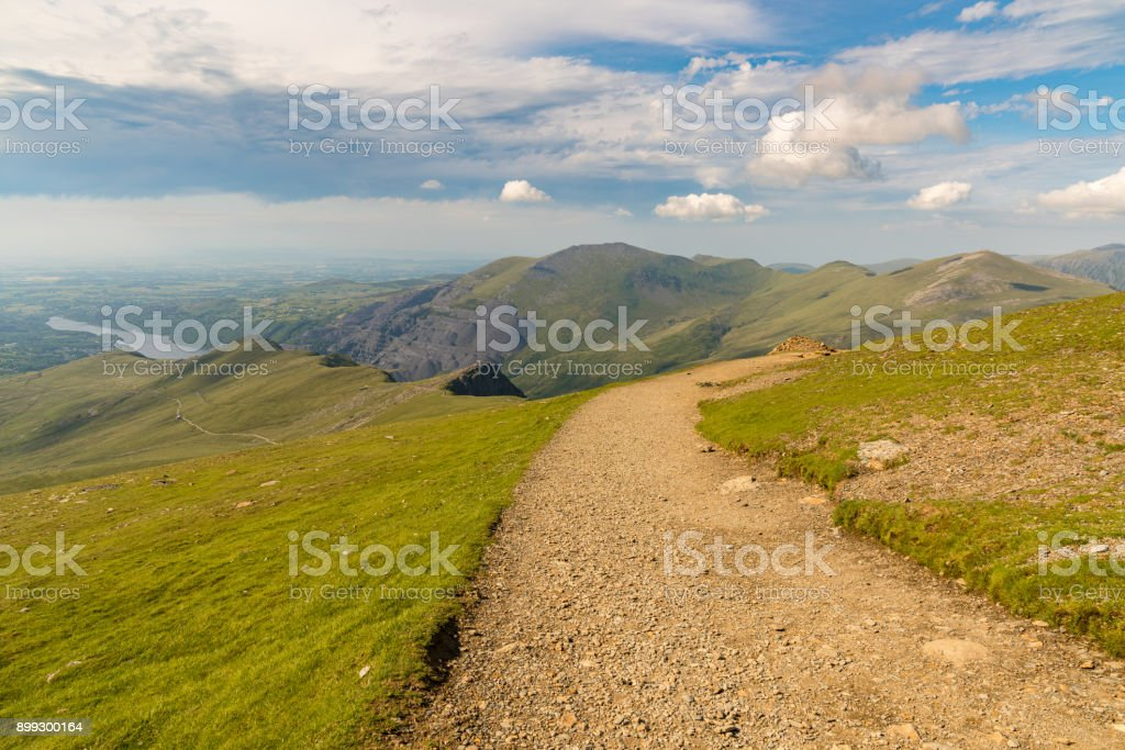 Clouds over Snowdonia, Wales, UK stock photo