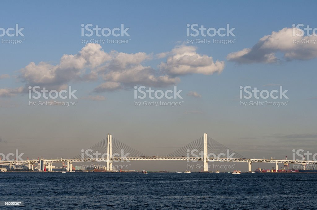 Clouds over the bridge royalty-free stock photo