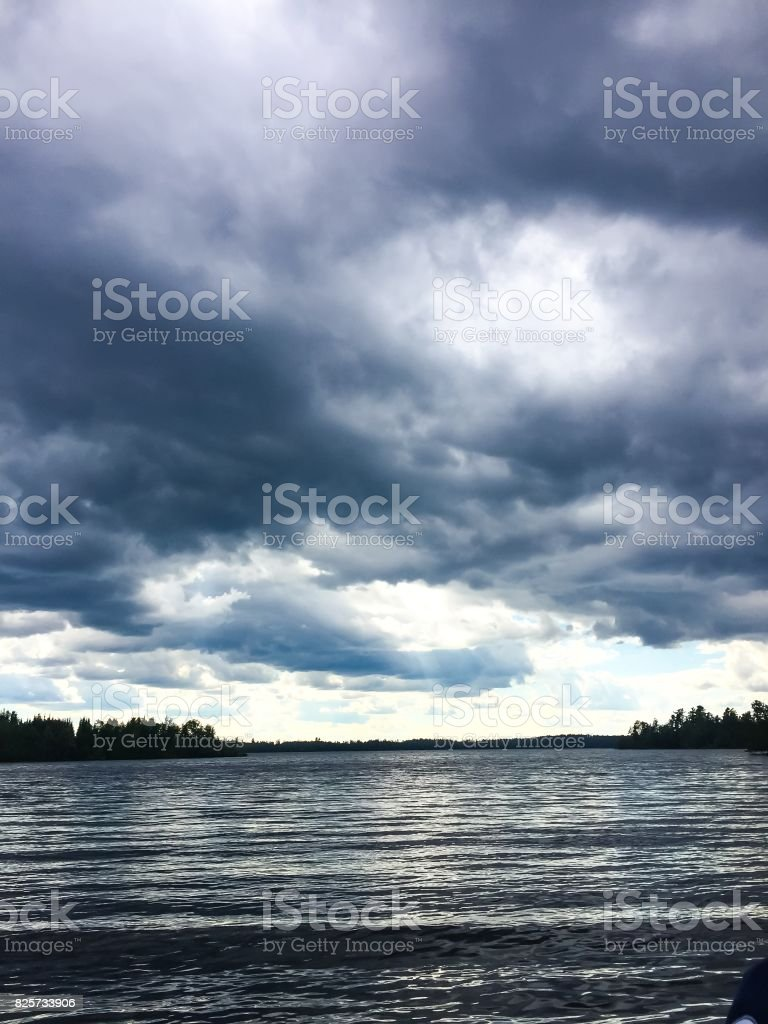 Clouds over the BWCA stock photo