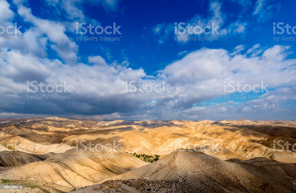 Clouds over the desert stock photo