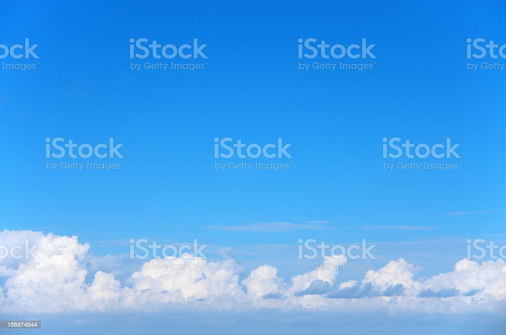 Clouds over the horizon royalty-free stock photo