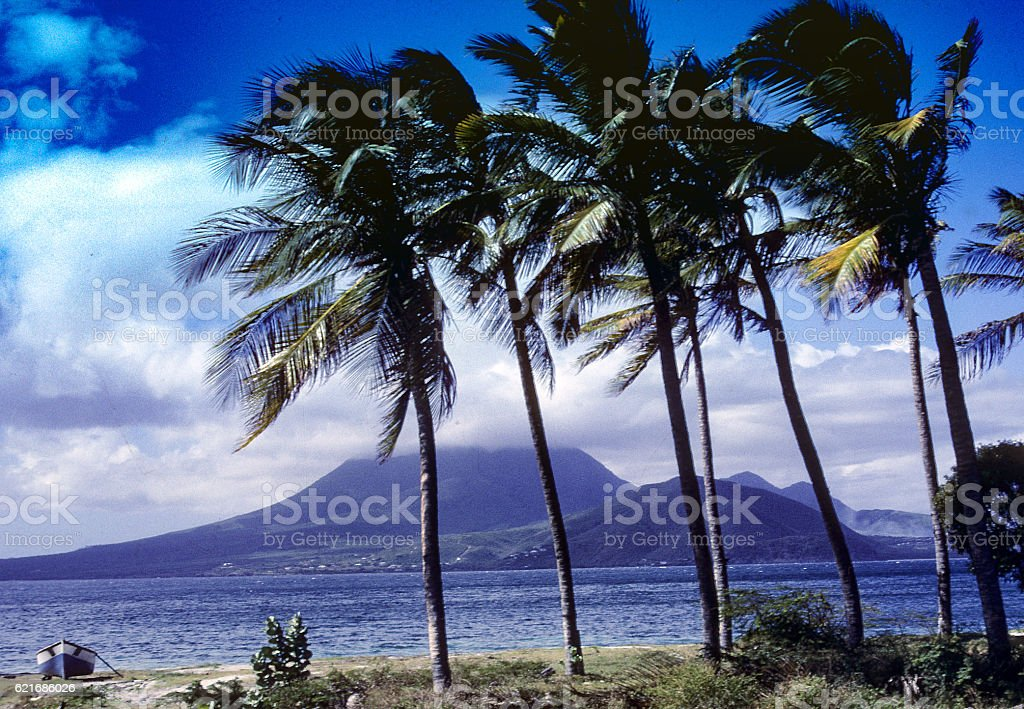 Clouds over the mountain. stock photo