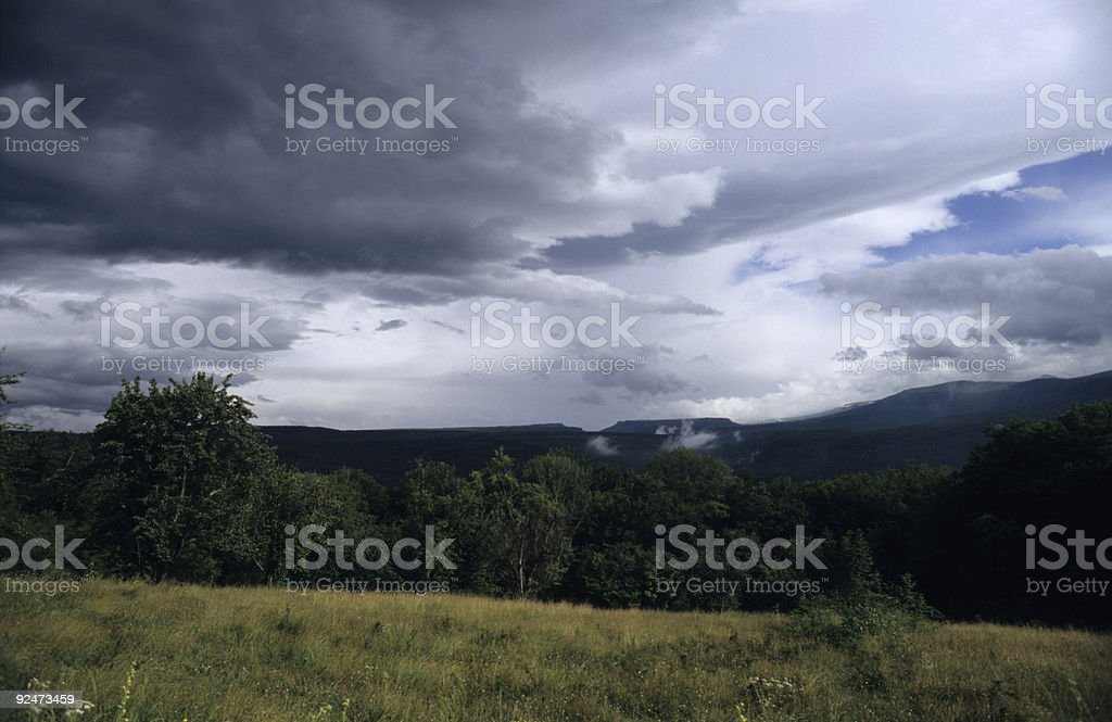 Clouds over the mountains royalty-free stock photo